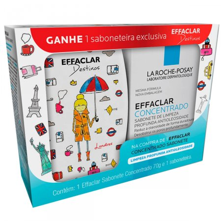 Kit La Roche Posay Sabonete Effaclar Concentrado + Saboneteira