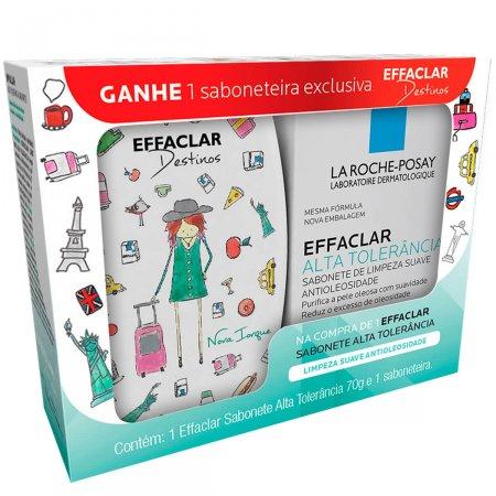 Kit La Roche Posay Sabonete Effaclar Alta Tolerância + Saboneteira