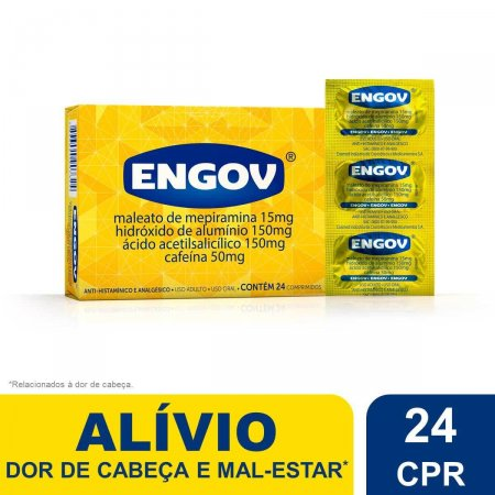 Engov com 24 Comprimidos