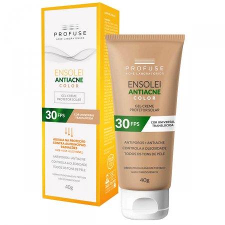 Protetor Solar Facial Profuse Ensolei Antiacne Color FPS 30 com 40g