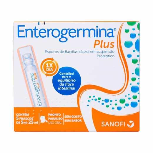 Probiótico Enterogermina Plus Com 5 Frascos De 5ml Droga Raia