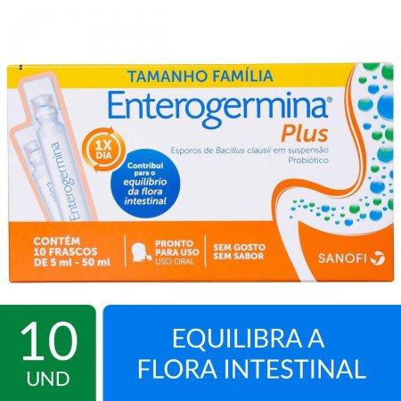 Probiótico Enterogermina Plus com 10 frascos de 5ml cada