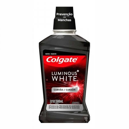 Enxaguante Bucal Colgate Luminous White Carvão com 500ml   Foto 1