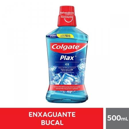 Enxaguante Antisséptico Bucal Colgate Plax Ice com 500ml