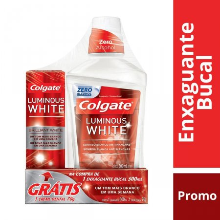 Enxaguante Bucal Colgate Luminous White