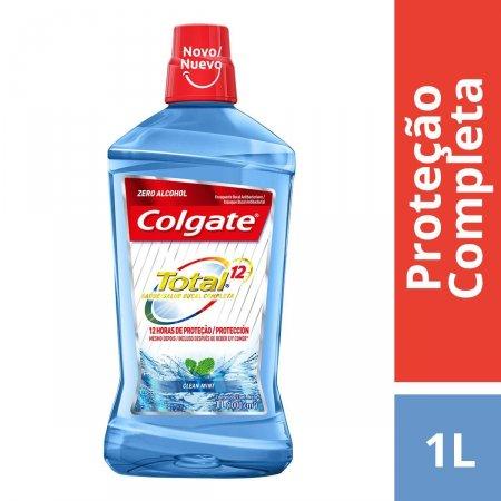 Enxaguante Antisséptico Bucal Colgate Total 12 Clean Mint Sem Álcool com 1L