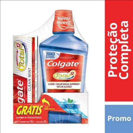 Enxaguante Bucal Colgate Total 12 Clean Mint