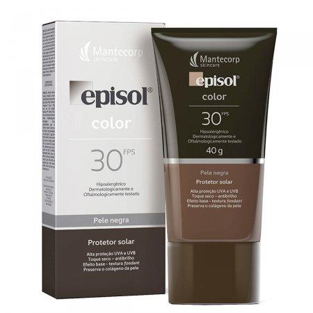 Protetor Solar Facial Episol Color Pele Negra FPS30