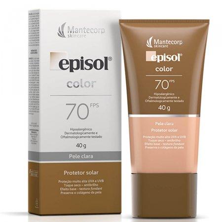 Protetor Solar Facial Episol Color Pele Clara FPS70