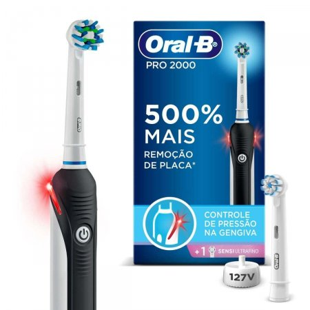 Escova Dental Elétrica Oral-B Pro 2000 Sensi 127v 1 Unidade   Foto 1