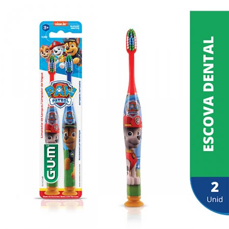 Escova Dental Infantil G.U.M Patrulha Canina