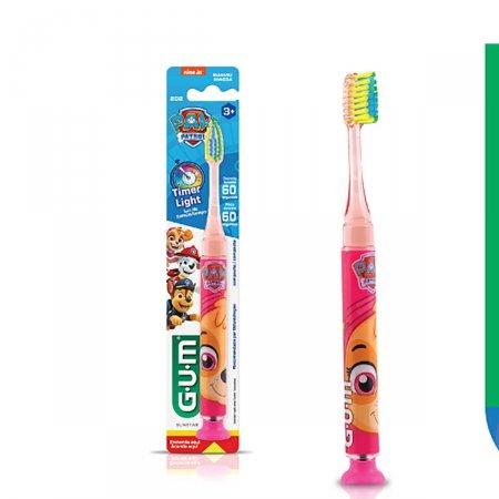 Escova Dental Infantil G.U.M Patrulha Canina Timer Light