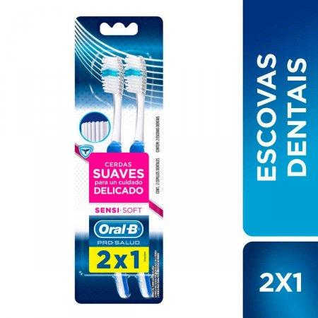 Escova Dental Oral-B Pro-Saúde Sensi-Soft com 2 Unidades