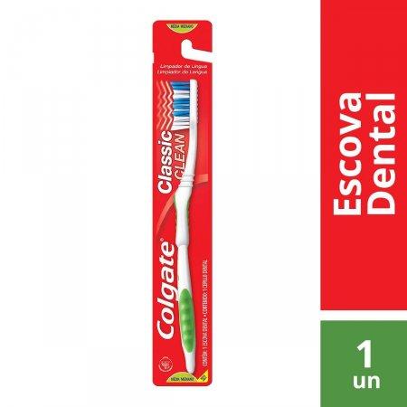Escova de Dente Colgate Classic Clean com 1 unidade