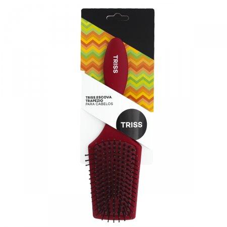 Escova para Cabelos Triss Preta e Vermelha