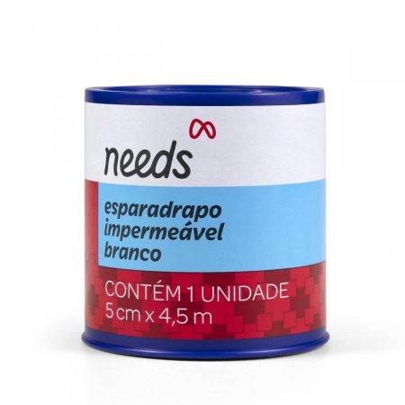 Esparadrapo Impermeável Needs Branco 5cm x 4,5m 1 Unidade | Drogaraia.com