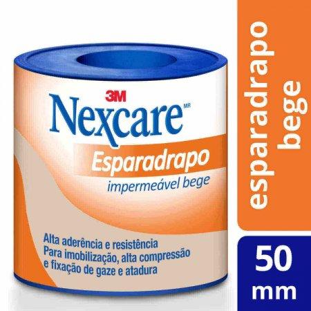 Esparadrapo Impermeável Nexcare Bege 50mmx3m