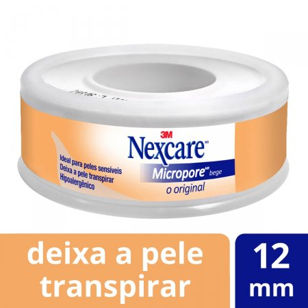 Esparadrapo Micropore Nexcare Bege 12mm X 4,5m