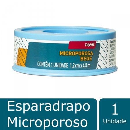Esparadrapo Microporoso Bege 1,2 cm X 4,5m