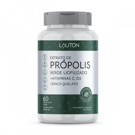 Extrato de Própolis Verde Liofilizado + Vitamina C + D3 + Zinco