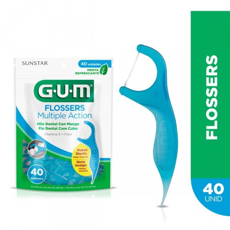 Fio Dental com Cabo G.U.M Flossers Multiple Action
