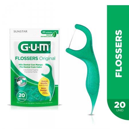 Fio Dental com Cabo G.U.M Flossers Original