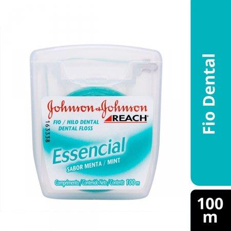 Fio Dental Johnson's Reach Essencial Sabor Menta com 100 metros