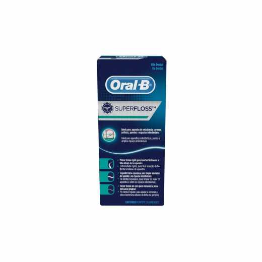 6bd297899 Oral B Fio Dental Super Floss 50 Unidades
