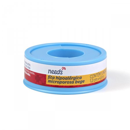 Fita Microporosa Needs Bege 1,2cm x 4,5m