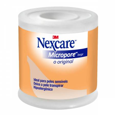 Fita Micropore Nexcare Bege 50mm X 4,5m