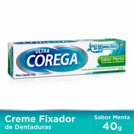 Fixador de Dentadura Ultra Corega Creme Menta