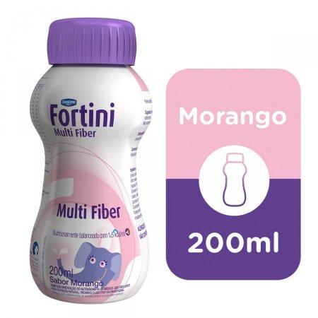 Fortini Multi Fiber Morango com 200ml
