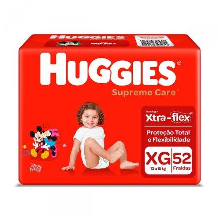 Fralda Huggies Supreme Care XG com 52 Unidades