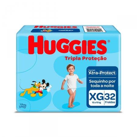 Fralda Huggies Tripla Proteção XG com 32 Unidades   Foto 1
