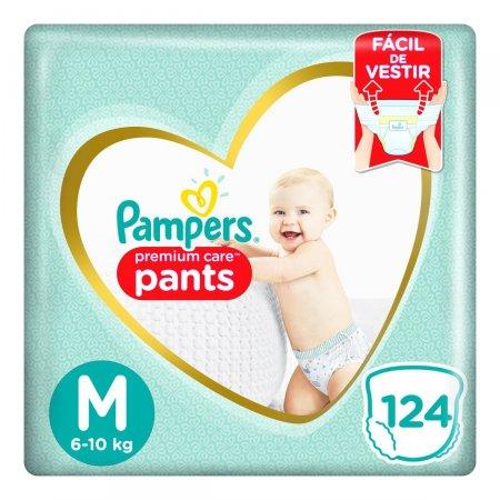 Fralda Pampers Premium Care Pants M com 124 Unidades | Foto 1