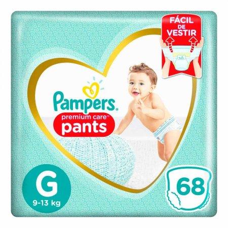 Fralda Pampers Premium Care Pants G com 68 unidades
