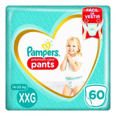 Fralda Pampers Premium Care Pants XXG com 60 unidades