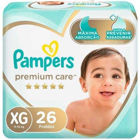 Fralda Pampers Premium Care Tamanho XG com 26 unidades