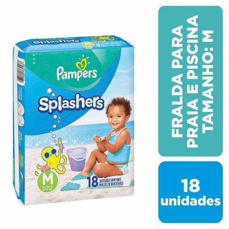 Fralda para Praia e Piscina Pampers Splashers Tamanho M