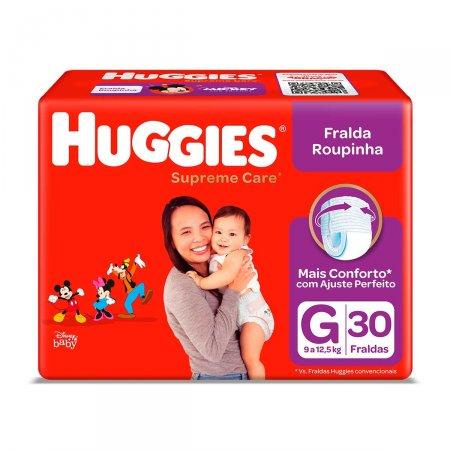 Fralda Roupinha Huggies Supreme Care G com 30 Unidades