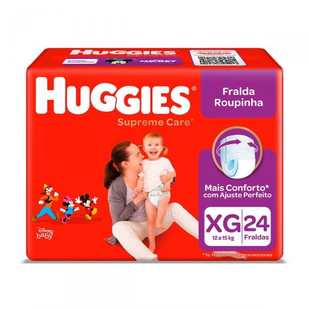 Fralda Roupinha Huggies Supreme Care XG com 24 Unidades