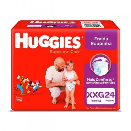 Fralda Roupinha Huggies Supreme Care XXG com 24 Unidades