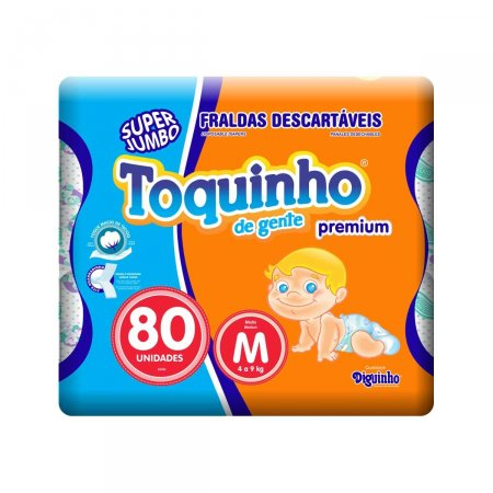 Fralda Toquinho de Gente Premium Tamanho M
