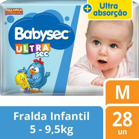 Fralda Babysec Galinha Pintadinha UltraSec Jumbo Tamanho M