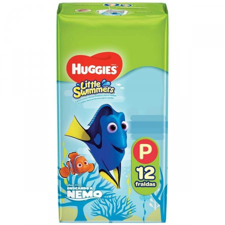 Fralda Huggies Little Swimmers P com 12 unidades