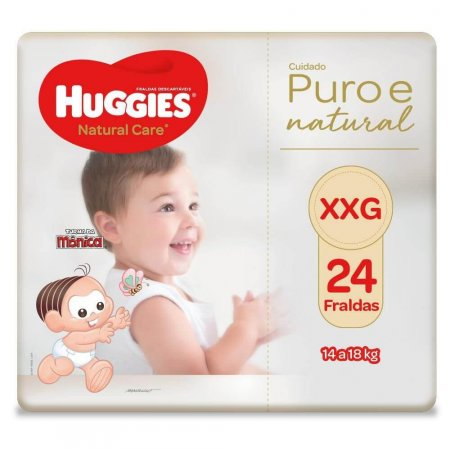 Fralda Huggies Natural Care Tamanho XXG