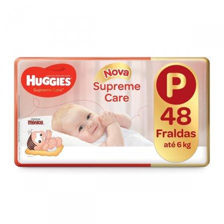 Fralda Huggies Supreme Care P com 48 unidades