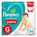 Fralda Pampers Confort Sec Pan... Fralda Pampers Confort Sec Pants Tamanho G