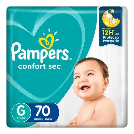 Fralda Pampers Confort Sec G com 70 unidades