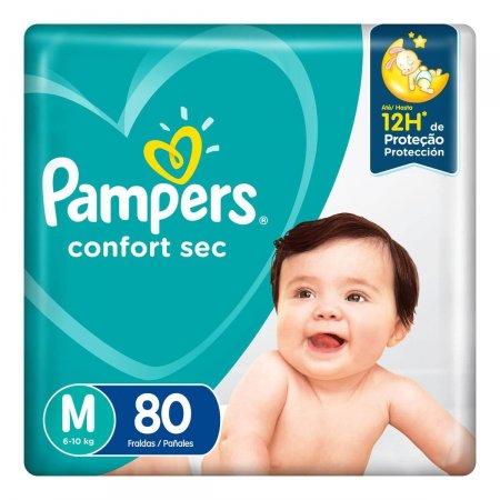 Fralda Pampers Confort Sec M com 80 unidades